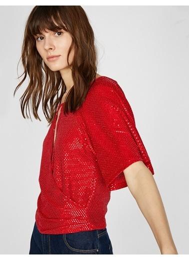 Koton Pul Detaylı Bluz Kırmızı